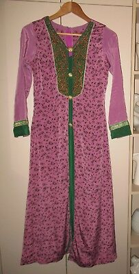 Vintage Exotic  Jewelled  Tunic  Size 12 Good Condition