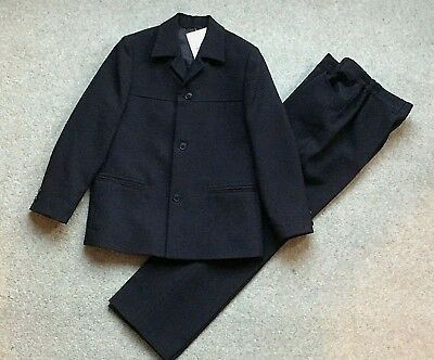 8/9y BLACK 2 PIECE SUIT, BNWT, FUNERAL/WEDDING/COMMUNION - EXCEL QUALITY RRP £91
