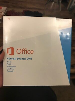 Microsoft Office, Home &Business 2013. Word, Excel, Powerpoint, OneNote, Outlook