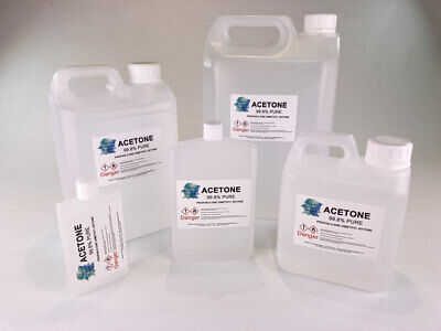 Acetone 99.6% Pure High Quality,Nail Varnish Remover - 30ml,125ml,250ml,500ml,1L