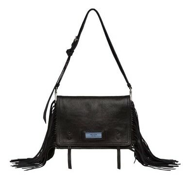 50086105fd7a Prada Etiquette Calf Leather Shoulder Bag in Pewter Hardware BRAND NEW with  Box