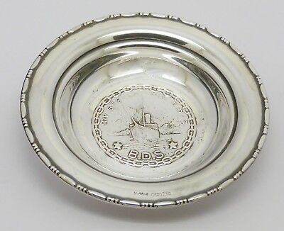 Fine Norwegian Solid Silver 830 Stella Polaris Cruise Ship Pin Dish Magnus Aase