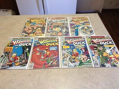 Howard the Duck Comic Lot Vol 1. #5, 6, 21, 22, 24, 25, 27, 28. Marvel Comics.