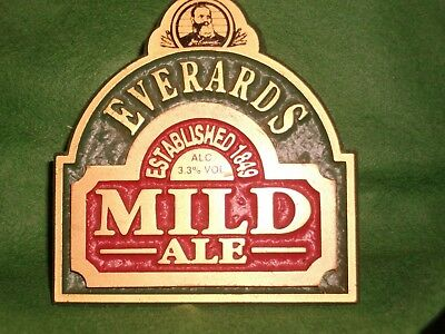 Everards Brewery used pump clip as scan 10b