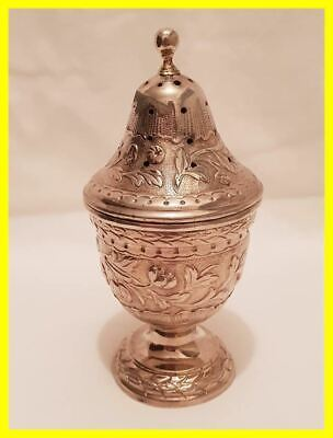 Arabic/Persian Silver Spice Shaker,Large Size With Gilt Interior.