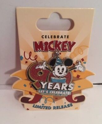 Disney Pin Mickey Mouse 90th Anniversary Birthday Happy Birthday 90 Mickey Pin