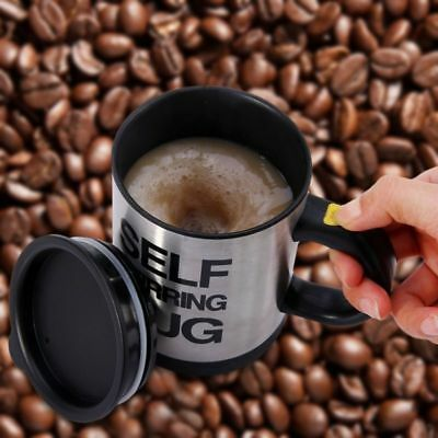 Automatic Self Stirring Coffee Mixing Cup Mug Electric Stainless Steel 350ML