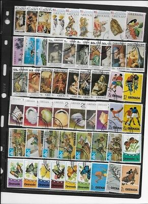 Grenada stamp collection lot 10