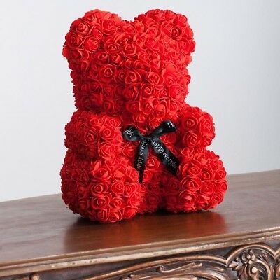 Giant Large Huge Big Teddy Bear Red Rose Flower Bear Valentine Day Gift NEW 25cm