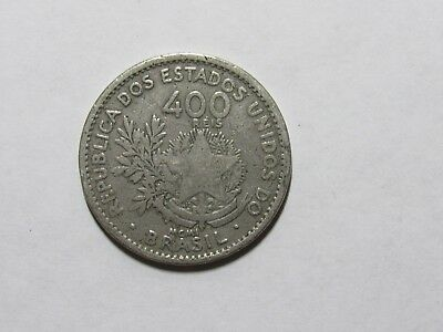 Old Brazil Coin - 1901 400 Reis - Circulated, scratches