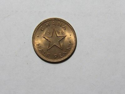 Old Ghana Coin - 1958 Half Penny Halfpenny - Circulated
