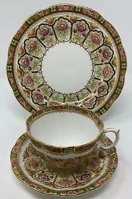 Early Royal Albert Trio Court Tons Of Gold Hand Painted Flowers