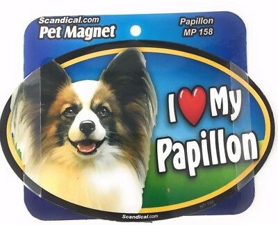 I LOVE MY PAPILLON Magnet Gifts, Cars, Trucks. Lockers, Refrigerators