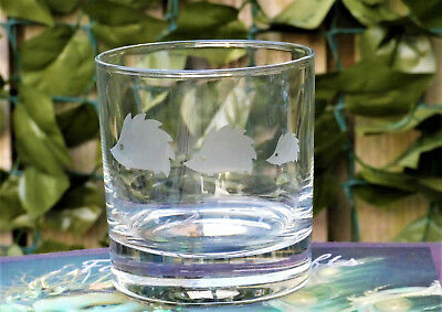 Hedgehog Family, Etched Whisky glass, Gift, Personalised, birthday, hedgehogs.