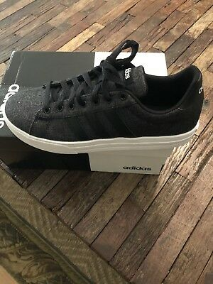 MENS ADIDAS DAILY 2.0 Black Canvas Sneaker Lifestyle