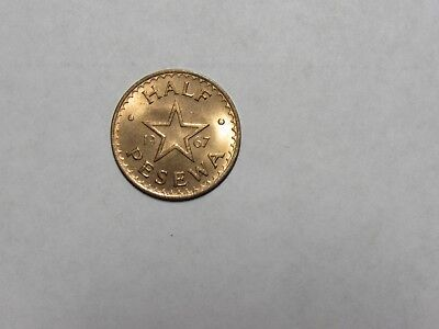 Old Ghana Coin - 1967 Half Pesewa - Circulated