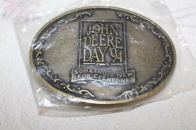 1994 John Deere Day Belt Buckle SOMETHING NEW FOR EVERYONE Sealed Package MINT