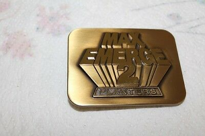 1987 John Deere Day Belt Buckle MAX EMERGE 2 PLANTERS MINT Gold