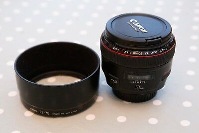 Canon EF 50mm F/1.2 L USM Lens - very good condition
