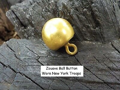 Old Rare Vintage Antique Civil War Relic Zouave Ball Button New York Troops.