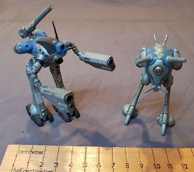 Vintage Revell - Robotech Zentraedi, 2 of, completed. Officer and Tactical pod