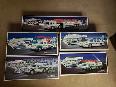 Hess Lot Of 5 Cars and Trucks