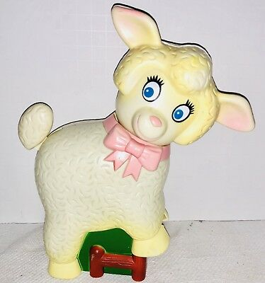 1982 Vintage Lamb Meritus Baby Nursery Sound Soother Crib Walker Rider / Toy