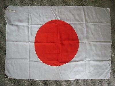 Vintage ORIGINAL WWII Japanese IMPERIAL Flag  40 '' X 27 '' IN.