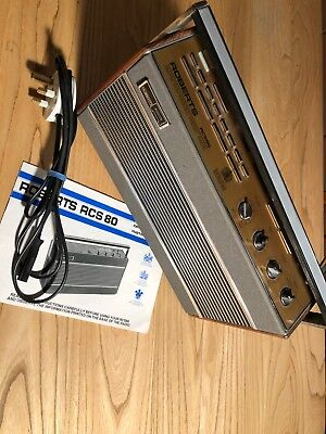 ROBERTS RCS 80 AM/FM SYNTHESIZED PRESET RADIO. Working FAIR condition.