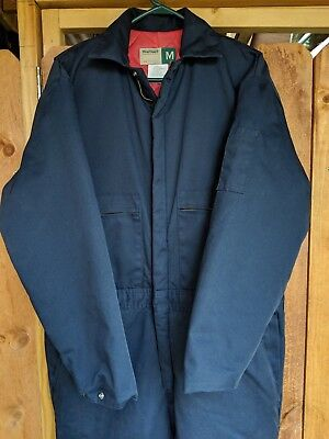 SteelGuard 20 Below Insulated Coverall Item DEF-321 Men's Med Jumpsuit Blue