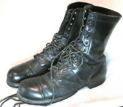 EARLY '60s  SPECIAL FORCES  CORCORAN BLACK BOOTS 10 1/2 D-  NICE