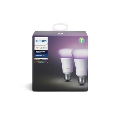 2x Philips Hue White and Colour Ambiance E27
