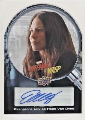 Marvel Upper Deck Ant-Man & The Wasp EVANGELINE LILLY Auto Autograph!