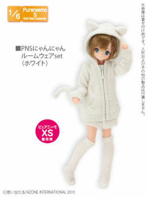 Azone Pure neemo PNS Cute cat outfit Wear Set white 1/6 Doll Obitsu Momoko XS S