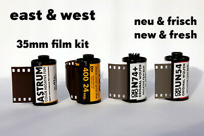 "35mm Film Kit • ""East & West"" • Color & b/w • Kodak ORWO Astrum NEW & FRESH FILM"