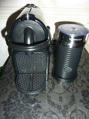 Nespresso Inissia M105 Magimix Coffee Pod Machine Black + Aeroccino Milk Frother