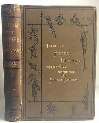 Antique VAMPIRE Richard Burton Vikram Tales of Hindu Devilry 1st Ed Illustrated