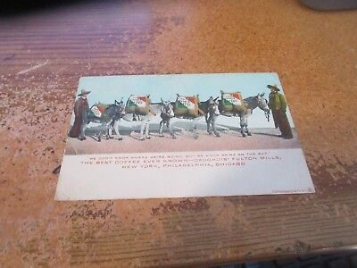 c. Early 1900's Private Estate Coffee Advertising Postcard New York Chicago Etc.