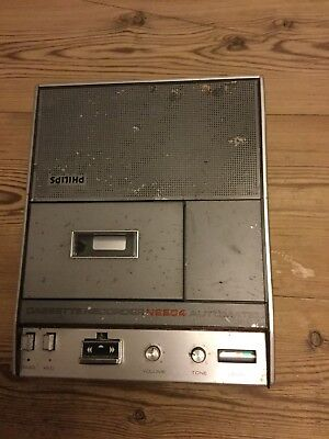 Philips Cassette Recorder N2204 Automatic 80's Retro, No Cable And Untested