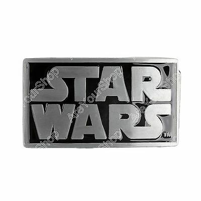 Western Cowboy Silver & Black Star Wars Comic Superhero Belt Buckle Cosplay E