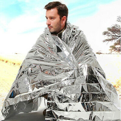 NEW Waterproof Emergency Blanket Survival Mylar Thermal Heat Sleeping Shelter