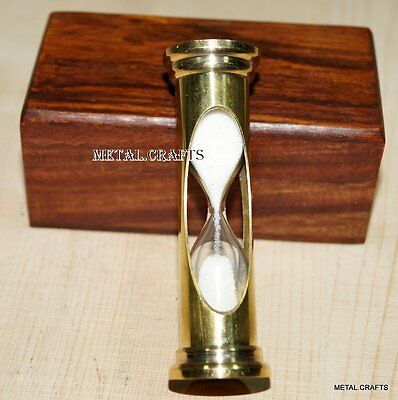 Vintage Brass Sand Timer Nautical Ship Hour Glass Handmade Sand Watch Box Gifts