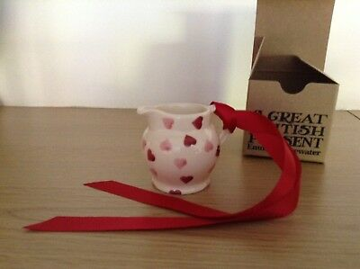 Emma Bridgewater Pink Hearts Tiny Jug Boxed.