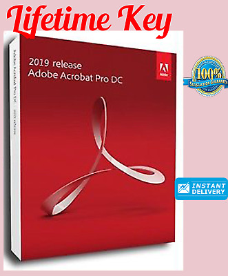 Adobe Acrobat Pro DC 2019 Genuine Key Instant Delivery (30s)