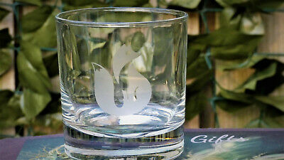 Elegant Fox design, Etched Whisky glass, Gift, Personalised, birthday, fox
