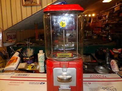 Vintage 1 Cent Gumball Machine -- Used