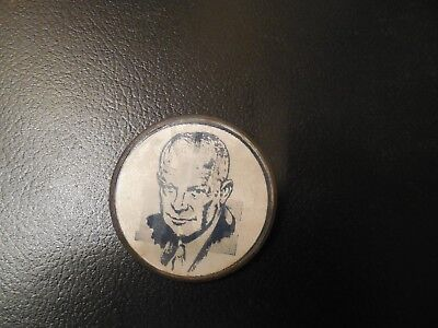 Presidential Pin Back Campaign Button Dwight Eisenhower I Like IKE Flasher Badge