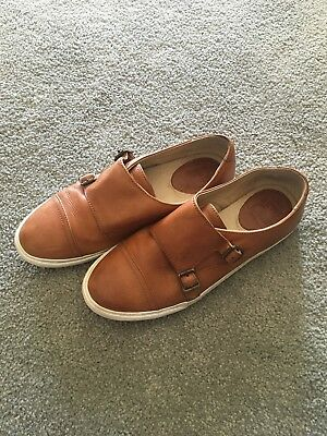 e468206328b Frye Shoes Mindy Monk Strap Loafer Flats Double Buckle Sneaker 7 Whiskey  Casual