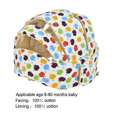 Infant Baby Toddler Safety Head Protection Helmet Kid Hat Fits Walking Crawling