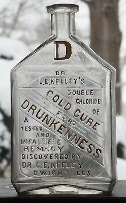 KEELEY'S CURE OF DRUNKENNESS NO 2 Rare example DWIGHT, ILLINOIS great condition